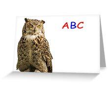 Owl ABC Greeting Card