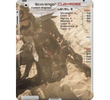 Claymore's Stats (Scavengers Poster) iPad Case/Skin