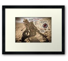 Claymore's Stats (Scavengers Poster) Framed Print