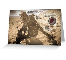 Claymore's Stats (Scavengers Poster) Greeting Card