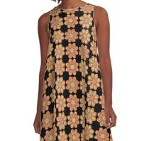 Pink Daffodil Foot Flowers A-Line Dress