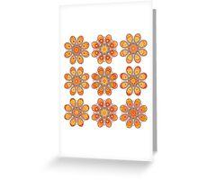 Pink Daffodil Foot Flowers Greeting Card