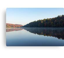 Misty Autumn Mirror - Canvas Print