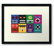not scared of the big bad human Framed Print