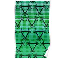 Triangle Halftone Green Poster
