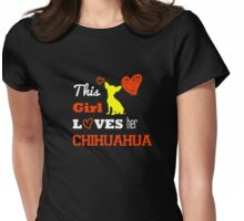 This Girl Love Dog Chihuahua Womens Fitted T-Shirt