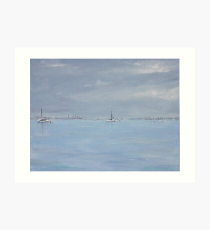 Grey day at Blakeney Art Print