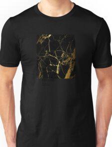 Black and Gold Marble Pantone Unisex T-Shirt