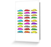 VW Multi Beetle Greeting Card