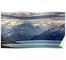 Aoraki/Mt Cook and Lake Pukaki Poster