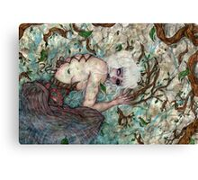 A Sinful Life Dying Canvas Print