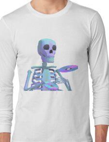 Skeleton Aesthetic | Vaporwave 80s inspired Long Sleeve T-Shirt