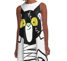 Halloween Cat  A-Line Dress