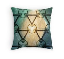 Triangle Galactic Seafoam Throw Pillow