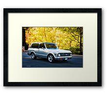 1971 Chevrolet Tahoe Blazer Framed Print