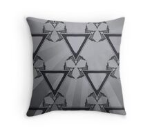 Triangle Sunburst Gray I  Throw Pillow