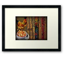 CHICKEN SOUP ITS GOOD FOR THE SOUL - PICTURE- CARD Framed Print
