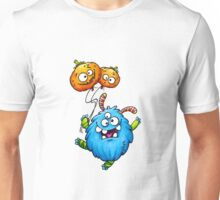 monster with pumpkin balloons Unisex T-Shirt