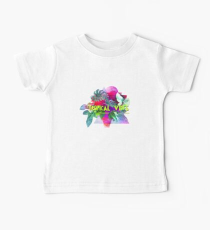 Tropical vibes  slogan.  Modern and stylish typographic design  Baby Tee