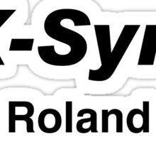 AX -Synth roland (black) Sticker