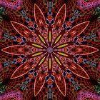 Fractal Pattern Color Kaleidoscope 02 by fantasytripp