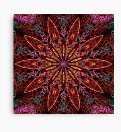 Fractal Pattern Color Kaleidoscope 02 Canvas Print