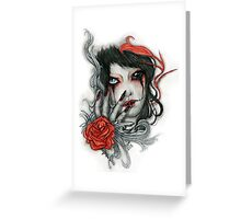 Bloody Tears Greeting Card
