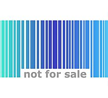 Not For Sale Barcode - Blues Photographic Print