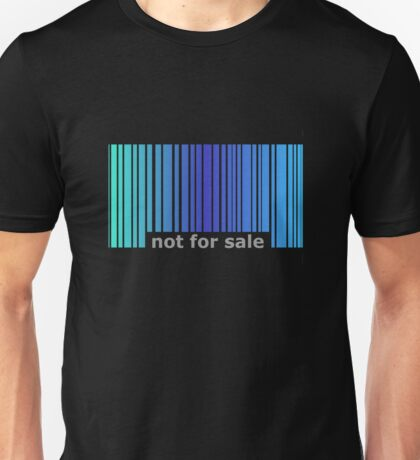 Not For Sale Barcode - Blues Unisex T-Shirt