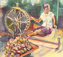 Yarn Spinner by christine purtle