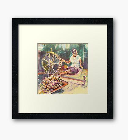 Yarn Spinner Framed Print