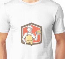 Cheesemaker Holding Parmesan Cheese Cartoon Unisex T-Shirt