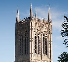 The central (main) tower, Lincoln Cathedral, Lincoln, UK by John Morris