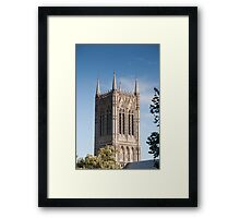 The central (main) tower, Lincoln Cathedral, Lincoln, UK Framed Print