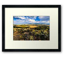 Sunset at Jackson Hole Framed Print