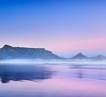 Pastel Dawn over Table Mountain by SeeOneSoul
