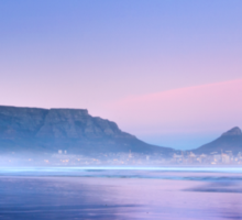 Pastel Dawn over Table Mountain Sticker