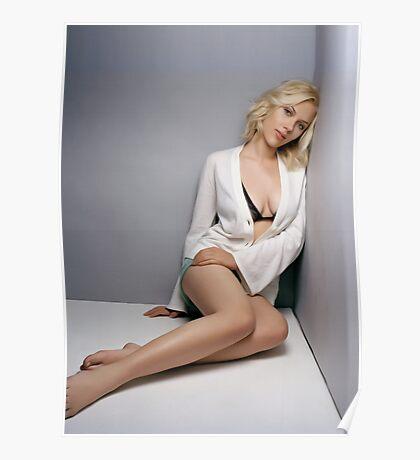 Scarlett Johansson (Oil Paint Art) Poster
