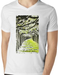 Follow me... Mens V-Neck T-Shirt