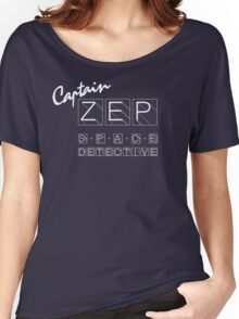 Captain Zep - Space Detective (white text) Women's Relaxed Fit T-Shirt