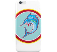 Sailfish Fish Jumping Circle Cartoon iPhone Case/Skin