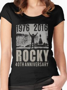 ROCKY BALBOA-LEGEND BOXING Women's Fitted Scoop T-Shirt