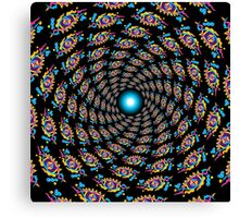 Psychedelic eyes mandala 15 Canvas Print