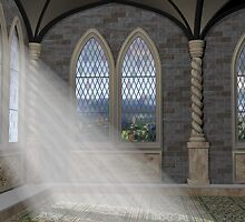God Rays Through An Arched Window by Paul Fleet