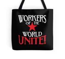 Workers of the World Unite - Red Star & Slogan Tote Bag