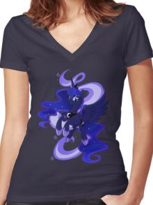My little woona Women's Fitted V-Neck T-Shirt