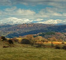 The Kentmere Fells in Winter by Jamie  Green