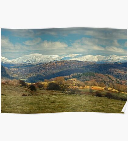 The Kentmere Fells in Winter Poster