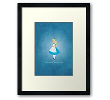 Alice in Wonderland inspired design (Alice). Framed Print