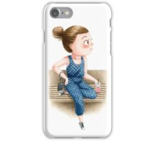 Girl on Bench iPhone Case/Skin